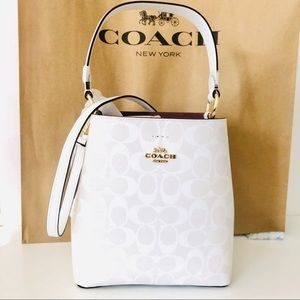 Coach Small Town Bucket Bag Snow White Purse